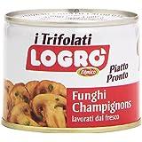 D'Amico - Logro, Funghi Champignons Trifolati, Lavorati dal Fresco, Piatto Pronto - 180 g