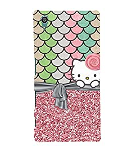 Fuson Designer Phone Back Case Cover Sony Xperia Z5 Premium :: Sony Xperia Z5 4K Premium Dual ( Live Happy With Kitty )