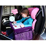 MuStone Child travel tray Children Snack, Kids Waterproof Travel Tray Car Play Travel for Baby Car Seats Play,Learn…