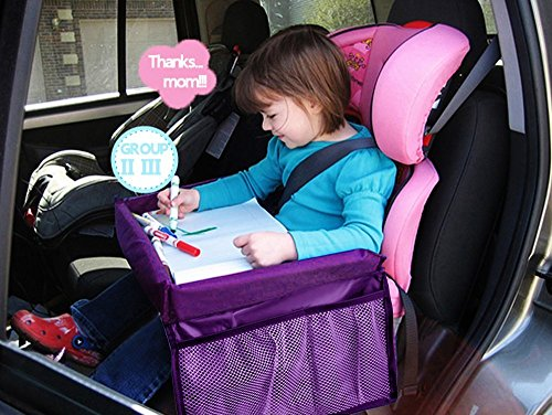 MuStone Child travel tray Children Snack, Kids  Waterproof Travel Tray Car Organiser for Baby Car Seats Play,Learn,Activity,Train,Plane,Indoor& Outdoors Journeys ,Travel Tray 51r7gEbT3LL