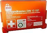 Betriebs-Verbandkasten Erste-Hilfe DIN13157 mit Prüfungsetikett von Eco