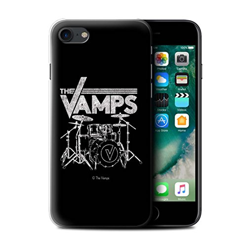 Offiziell The Vamps Hülle / Case für Apple iPhone 7 / Schlagzeug Muster / The Vamps Graffiti Band Logo Kollektion Schlagzeug
