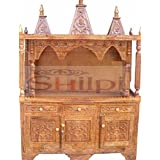 Shilpi Wooden Amazing Handcrafted Sheesham Wood Mandir/Wooden Home Temple