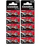 20 CAMELION AG10 / 189/389 / LR1130 Pile Bouton Longue durée de Conservation 0% de...