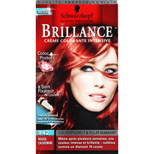 schwarzkopf brillance crme colorante intensive 842 la boite de 1425ml - Mousse Colorante Schwarzkopf