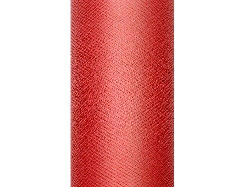 Tüll auf der Rolle rot 30 cm breit x 9 m lang Tischläufer Stoff
