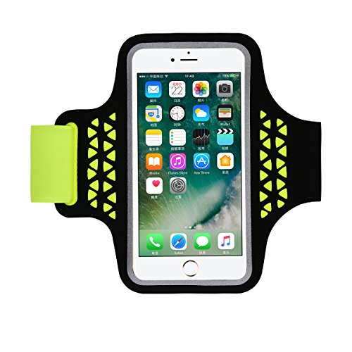 "Haissky deporte running Brazalete Armband, a prueba de sudor brazalete para iPhone 7/6/6s 5 5s 5c Samsung Galaxy S5 S6 con ID tarjeta de Crédito Dinero Soporte ,para 4.7""-5.2"" teléfono"