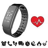 [NEUE VERSION] endubro® i7HR Fitness Armband mit Herzfrequenz - Monitor für Android Smartphone und iPhone, Schrittzähler, Push-Message und Anrufer - ID Benachrichtigung