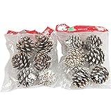 Sunlera 6Pcs Weihnachten Tannenzapfen Flitter Weihnachtsbaum-Dekoration Ornament Wohnkultur