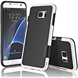 Coque Samsung galaxy S7 edge , XY-shell(TM) 3 couleur[absorbant les chocs] [ Anti-rayures Back]Coque Silicone Housse Etui Ultra Slim Fit pour Galaxy S7 edge sorti en 2016.[Noir]