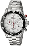 Edox Men's 'Chronorally-S' Quartz Stainless Steel Sport Watch, Color:Silver-Toned (Model: 10227 3M ABN)