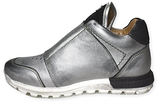 QUIDA Sneaker high Momino ungefüttert Klett Silber