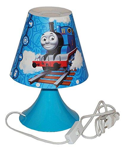 Unbekannt Tischlampe Thomas die Lokomotive - 29 cm hoch - Tischleuchte für Kinder Kinderzimmer - Jungen Eisenbahn Lok Zug - Nachttischlampe Lampe Stehlampe