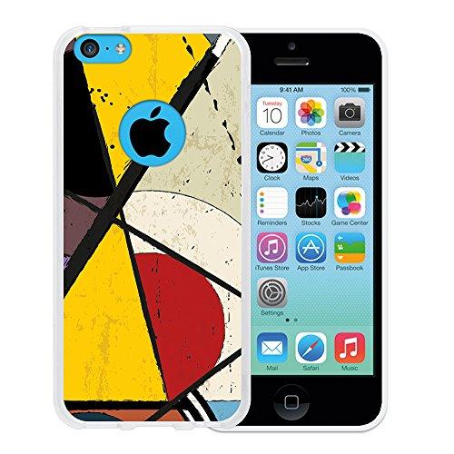 iPhone 5C Hülle, WoowCase Handyhülle Silikon für [ iPhone 5C ] Coloriertes Graffiti Handytasche Handy Cover Case Schutzhülle Flexible TPU - Transparent Housse Gel iPhone 5C Transparent D0119