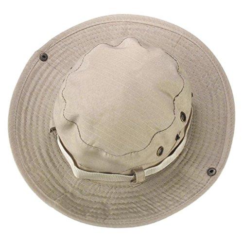 Sommer Unisex Sonnenhut UPF 50+ Boonie ❤️Hut Einstellbare Outdoor Angeln Hut Eimer Hüte Breiter Krempe Sonnenschutz Wandern Hut für Frauen Männer (Beige) (Upf Leinwand 50)