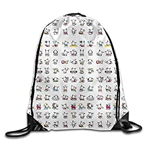 51r7lOeSb1L. SS300 engzhoushi Zaino con Coulisse,Sacchetto,Borsa Palestra Pochacco Line Stickers A Drawstring Backpack Lovable Lovely Beautiful for Girls