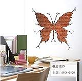 QTXINGMU Butterfly Shape Broken Wall Brick Wall Sticker Wohnzimmer Schlafzimmer Home Decor Wall Decals Art Poster 3D-Effekt Dekoration