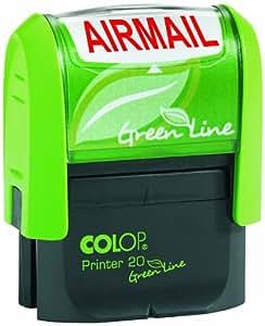 Colop Réf 1092704003 Green Line Tampon encreur AIR MAIL Rouge 38 mm x 14 mm (Import Royaume Uni)