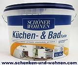 SCHÖNER WOHNEN FARBE Küchen- & Badfarbe, pearl 2 l, pearl