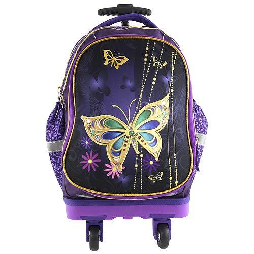 Schmetterling Mädchen Superlight Smart Schulranzen-Schulrucksack mit Rollen 50x28x20cm Trolley Koffer Handgepäck