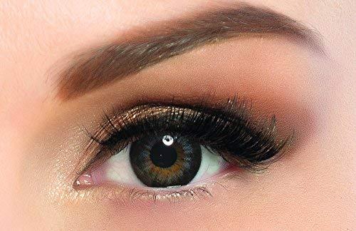 Farbige kontaktlinsen in dunkelblau mit dunklen Kreises- 3 Monaten- ohne Stärke + gratis Kontaktlinsenbehälte ADORE- Dare collection - DARE AQUA