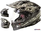 MOTOCROSS CASCO RX-V288 ADULTOS OFF ROAD VISERA DOBLE MOTO ENDURO ECE HOMOLOGADO ATV QUAD CARRERAS...