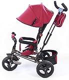 Clamaro 'Buttler' 4in1 Kinderwagen Dreirad ab 1 Jahr (5 Varianten) mit lenkbarer Schubstange, mit flüsterleise Gummireifen und Sonnendach, Kinderdreirad durch 4-fach Umbau für Jungen und Mädchen ab ca. 1 - 5 Jahre geeignet von Clamaro