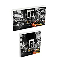 the grafix studio New York & taxi Light Switch & Double Socket Sticker Vinyl/Skin cover sosw25