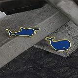 CDD Brosche Niedliche Hai-Persönlichkeit Micro Creative Drop Öl Rucksack Accessoire Denim Kragen