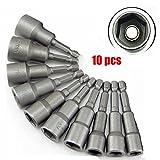 """Malayas® Set 10 pezzi 6mm-19mm 1/4 """"Hex Adattatori Magnetico Punte da Trapano Estensione Drill Bits"""