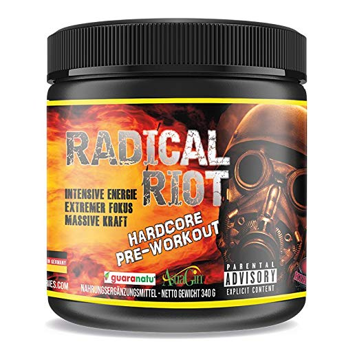 Pre Workout Booster Radical Riot V3-340 g I Fitness Booster I Trainingsbooster I Bodybuilding I Energie Drink I Fokus I Cherry