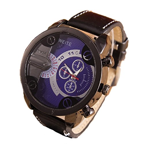 d2ccc5079f3 Relojes Hombre,Xinan Análogos de Lujo Deporte Caja Acero del Cuero ...