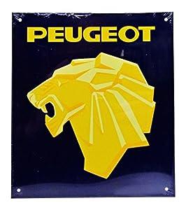 Dioramax-Placa Metal-Peugeot-Azul/Amarillo-Escala-1/1