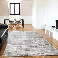 mynes Home Designer Rug Short Pile Lined for Living Room in Grey Graphic Designer For Bedroom/Living Room/Bedroom In Various Sizes, grey, 120 x 170 cm