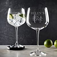 Personalised Gin Glass/Gin Related Gifts/Personalised Birthday Gifts For Women/Best Friend Gifts For Women