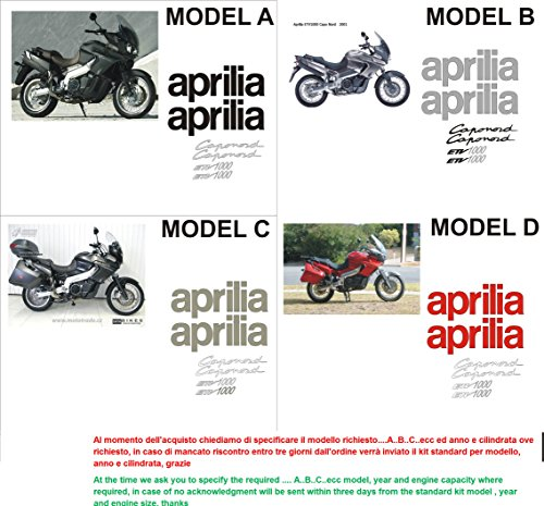 Kit adesivi decal stickers aprilia etv 1000 caponord (ability to customize the colors)