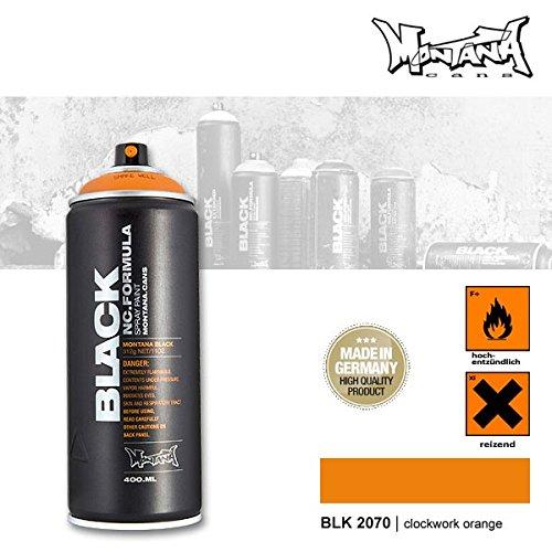 Montana Black 2070 clockwork orange, 400 ml Sprühdose