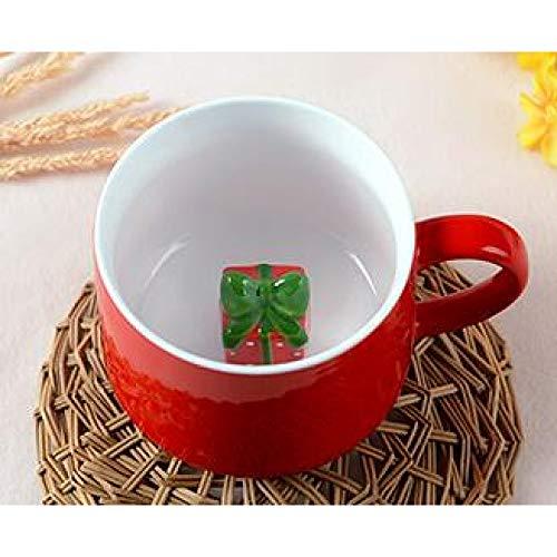 JYLW Becher Kreatives Weihnachten 3D Begünstigt Keramische Kaffeekanne-Tee-Milch-Becher 400Ml
