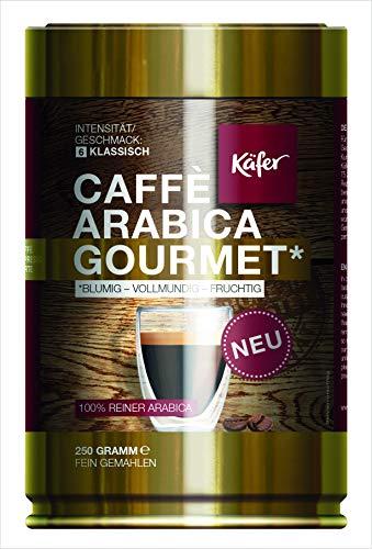 Käfer | Caffé Arabica Gourmet | gemahlener Spitzenkaffee | Dose | 250 g