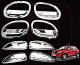 #1: RedClub Galio/ Prius Handle/ Catch Covers & Finger Guards Combo for Renault Kwid (Chrome) [Made in India] with Complementary 01 Pair of RedClub Blind Spot Mirrors + RedClub Pen Free