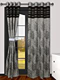 #9: La elite® Very Premium Super Thick India Loom Made Fresh Quality Jute Curtains / Content - Set of 2 Door Curtain / Panel Eyelet-Grommets / - Home Living : Width x Length Size 48 Inch x 84 Inch - Color Brown