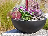 Pflanzschale NOVA Ø46 x H16cm aus Fiberglas in schwarz-anthrazit, Blumenschale, Pflanzgefäße, Dekoschale, Pflanzkübel