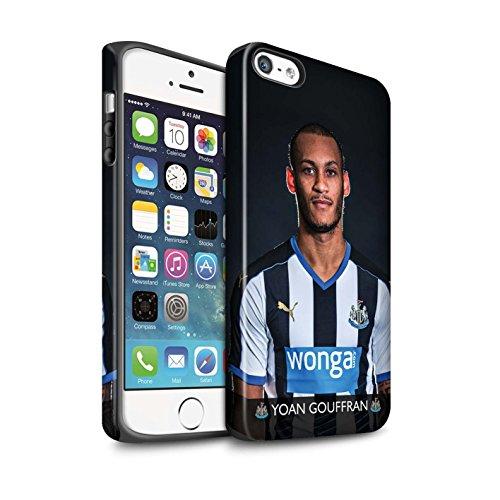 Offiziell Newcastle United FC Hülle / Matte Harten Stoßfest Case für Apple iPhone 5/5S / Pack 25pcs Muster / NUFC Fussballspieler 15/16 Kollektion Gouffran