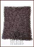 Ulfberth FRW Kettenstück 20x 20cm aus Flachringen mit Keilnieten vernietet, ID8mm, unbehandelt Kettenhemd oder Kettenhaube