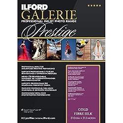 ILFORD Galerie Prestige Gold Fibre Silk-Papier Photo 310 g 25 feuilles A2