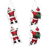 lux.pro] Weihnachtsmänner auf Leiter 65cm-25cm Weihnachts Mann Deko Weihnachten Figur Nikolaus