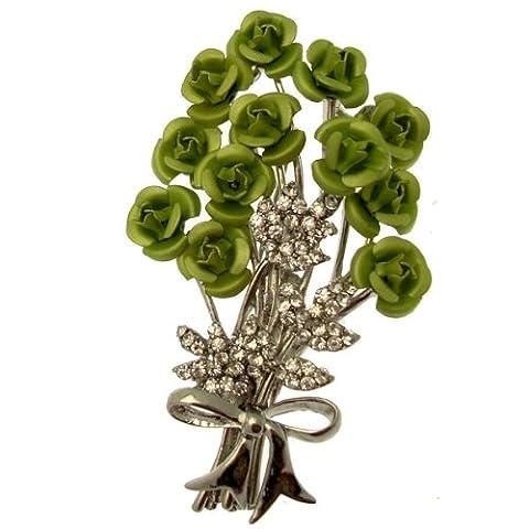 Acosta Vert & Broche Rose Cristal-broche Broche