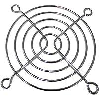 AERZETIX- Juego de 4 Rejillas de protección Cromo - 70x70mm - Ventilación para Ventilador de Caja de Ordenador PC - C43423