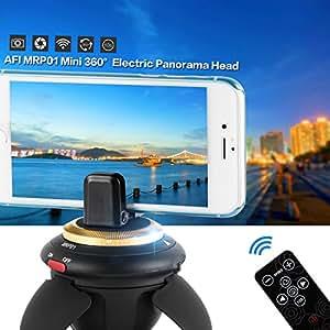 Mini 360 °Tête Panoramique Électrique avec Trépied, Sans Fil Bluetooth avec Télécommande pour Selfie, Compatible pour Smartphones,Caméra GoPro, Action Caméra, Pocket Micro caméra SLR