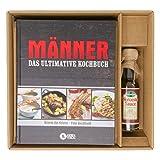 Geschenkset für Männer, großes Kochbuch für Männer+ Worcester-Sauce, Bilderkochbuch